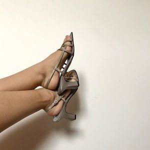 "Gallery - Vintage Silver Strappy 3"" High Heels"